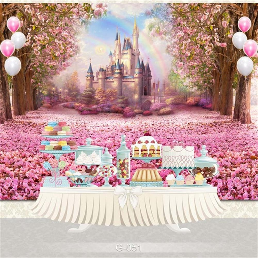 Castle Birthday Banner Personalized Party Backdrop