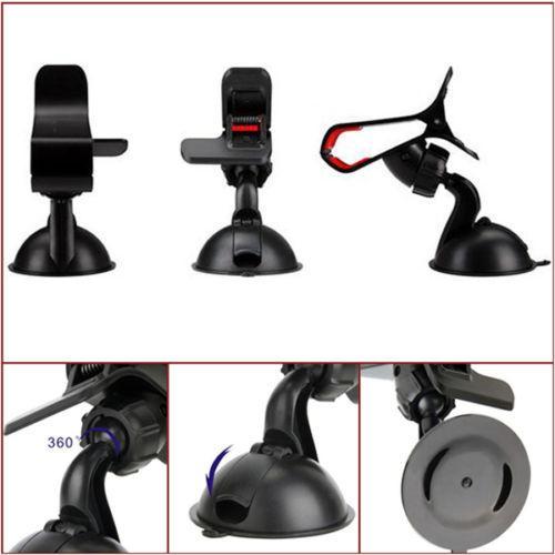 Hi-Quality Universal 360 ° Auto AUTO-ZUBEHÖR Einstellbarer Winkel Telefon Windschutzscheibenhalterung GPS-Halter Kostenloser Versand