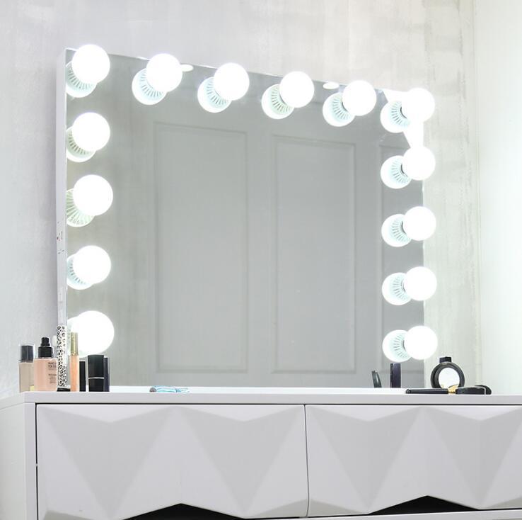 Double miroir de maquillage avec lumière Make up Miroir Cosmétique Miroir