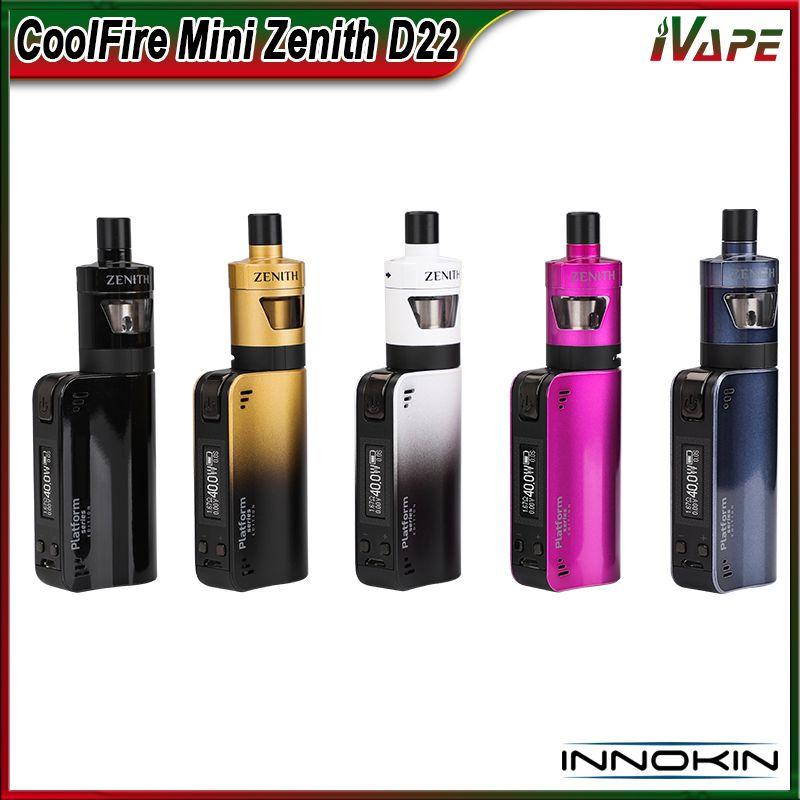 100% Original Innokin CoolFire Mini Zenith D22 Kit 40W with Zenith D22 Tank 3ml & CoolFire Mini Battery 1300mah Plexus Z Coil Adopted