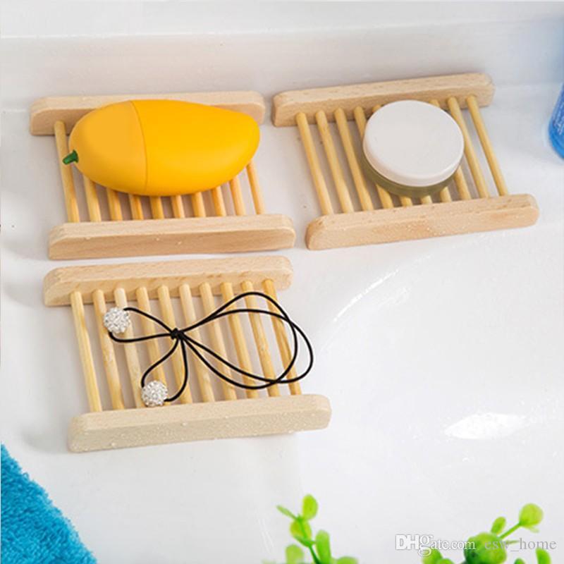 Натуральный бамбук деревянные мыльницы деревянные мыльница держатель для хранения мыльница плита коробка контейнер для ванной душ ванная комната