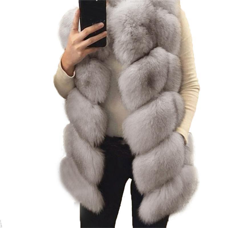 가짜 모피 웜 조끼 코트 모피 민소매 자켓 코트 여성 패션 모든 경기 겨울 가짜 모피 조끼 자켓 여성