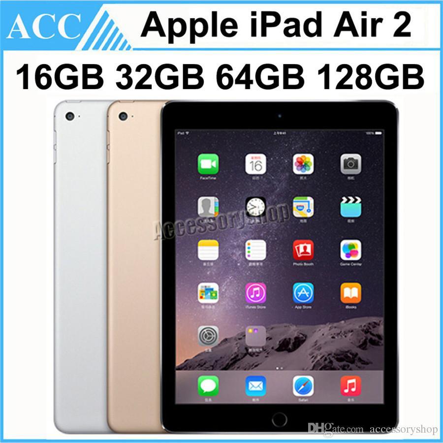 Refurbished Original Apple iPad Air 2 iPad 6 WIFI Version 16GB 32GB 64GB 128GB 9.7 inch Triple Core A8X Chipset Tablet PC DHL 1pcs
