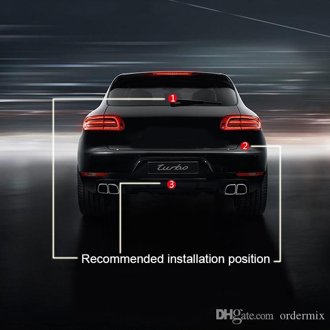 Samochód Stylizacja Anti Car Car Laser Ogon Lampy przeciwmgielne Auto Lampa Parking Ostrzeżenie Lampy stylizacji samochodu Dla Ford Focus 2 dla BMW E46