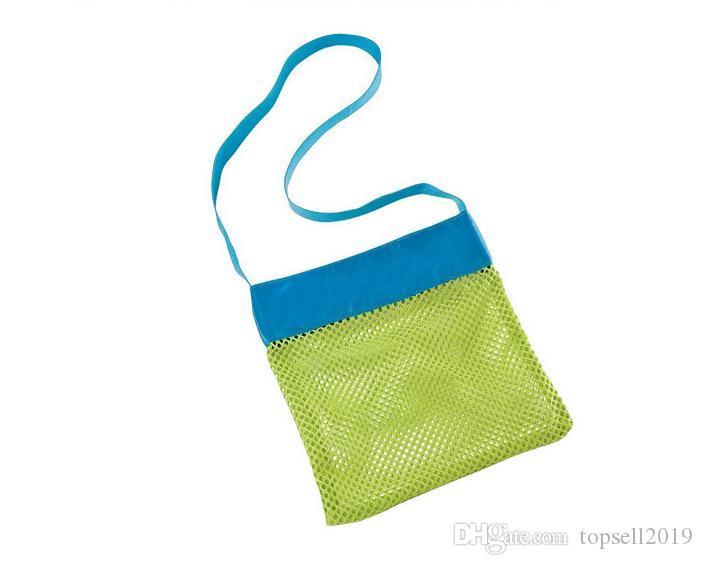 Children Mesh Shell Bag Summer Beach Seashell Shell Tote Bag Practical Storage Bags Shell Net Sand Away Beach Mesh Pouch SN455