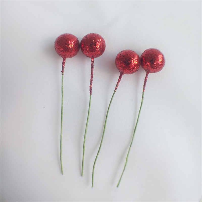 Mini Simulazione SCHIUMA Frutta piccoli frutti di bosco artificiale Fiore Rosso Ciliegia di perle finte nozze Albero di Natale decorativo