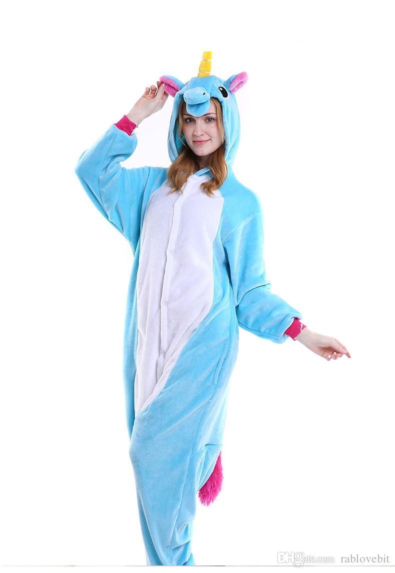 Unisex Adult Pajamas Kigurumi Anime Cosplay Costume Animal Onesi1 Sleepwear Hot