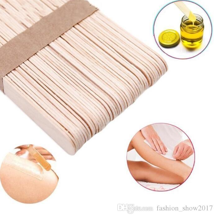 Wooden Spatulas Body Hair Removal Sticks Wax Disposable Salon Hair Epilation Stick Tools Pretty Wax Waxing Sticks Back Hair Remover Best At Home Hair Removal Products