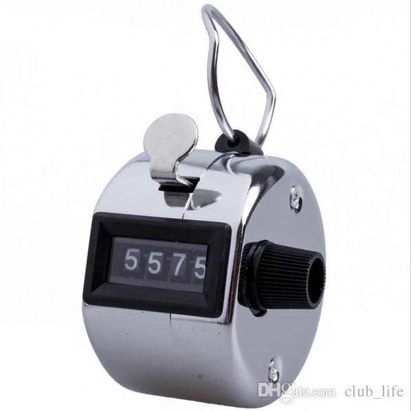 Мини цифровой ручной подсчет счетчики ручной подсчет Гольф кликер 4-значный номер ручной ручной подсчет счетчик
