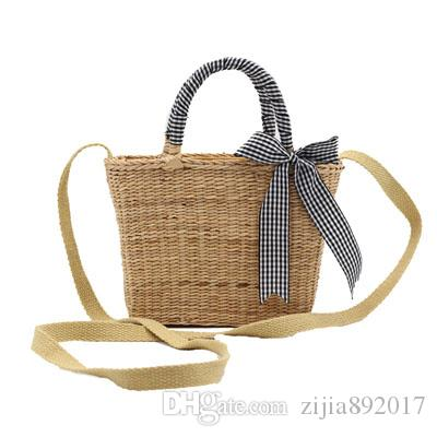 New Bali Island Hand Woven Bag Round Butterfly Rattan Straw Bags Satchel Wind Bohemia Beach Flap Bag High Quality INS Popular E66