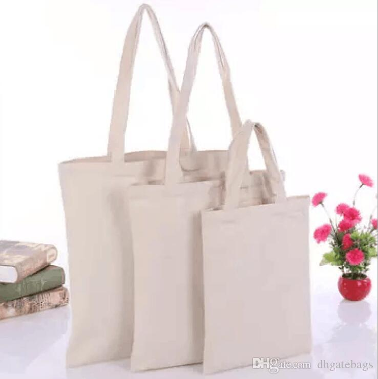 Outdoor beach cotton bag blank gift bags canvas shopping bags wholesale women tote handbag foldable reusable wash bag fashion storage bags