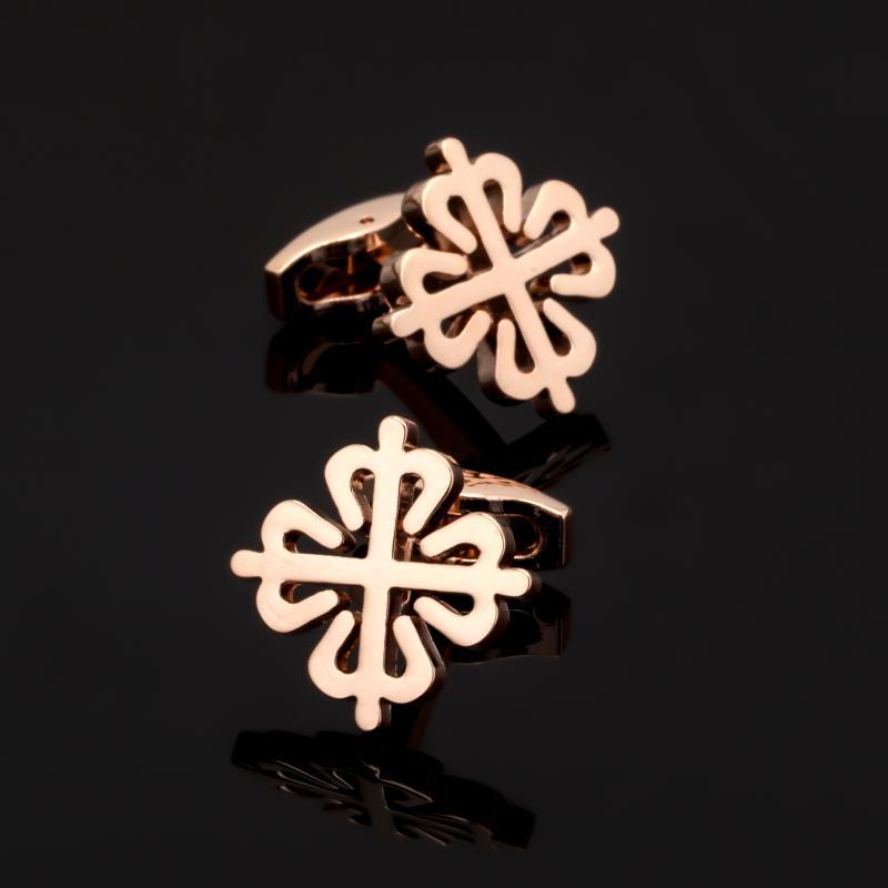 Xk038 Yüksek Kalite Erkekler Düğün Kol Düğmeleri Rose Gold Çin Düğüm Takı Aksesuar Kol Düğmeleri Fabrika Doğrudan 10pairs