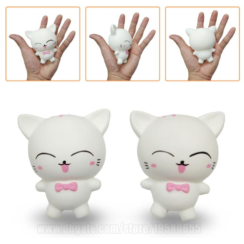 Cat Squishies Kids White Sweet Kawaii Animal Squishy