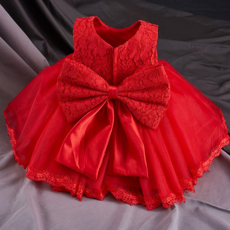 Vestido de bautizo de niña de verano Vestido de princesa infantil Vestidos de 1er cumpleaños Niños Ropa de fiesta para niños Vestido de niña Vestido formal