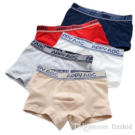 5 teile / los 3-kinds stil weiche organische baumwolle kinder jungen underwear kinder boxer für jungen shorts höschen