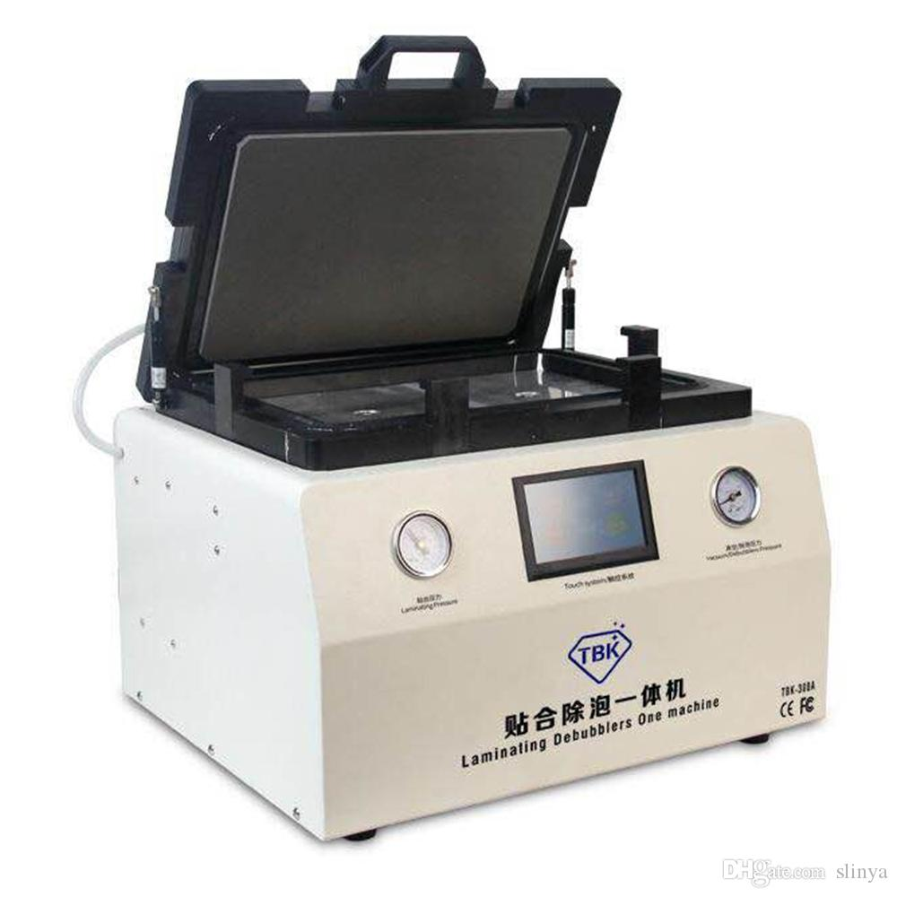 La macchina di laminazione automatica a 15 pollici del touch screen del telefono cellulare di riparazione di LCD OCA che laminano la bolla di aria della macchina rimuove la macchina TBK-308A
