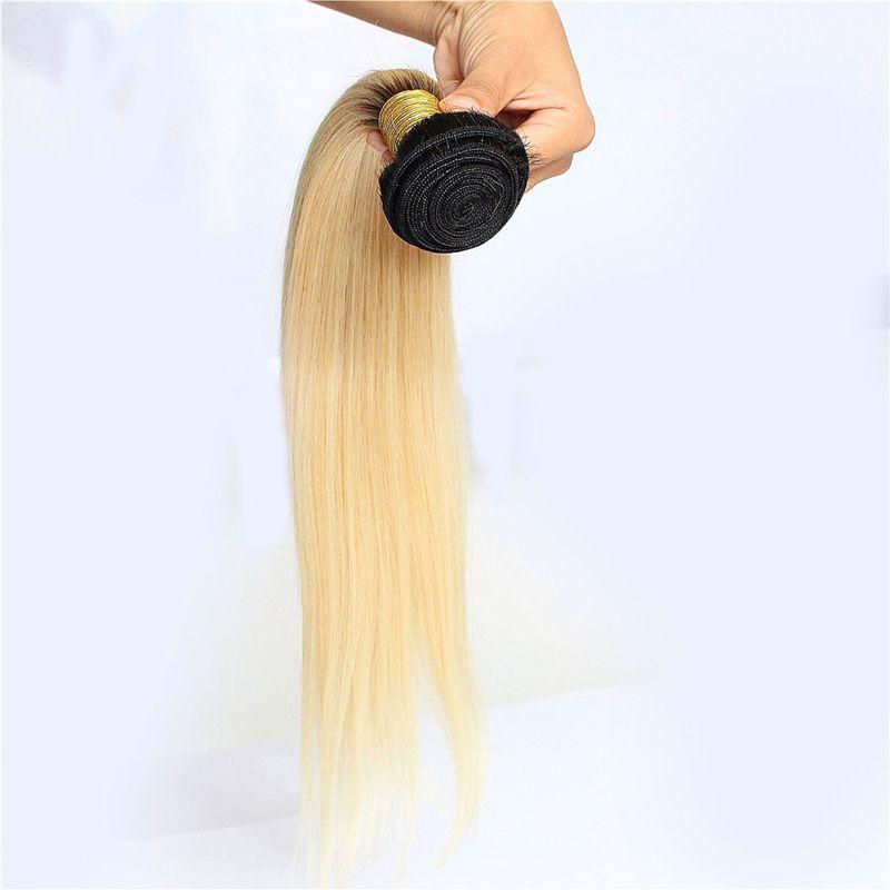 Pacotes 100b brasileiros do Weave do cabelo humano de Remy das extensões 100% do cabelo reto de Ombre de Ombre