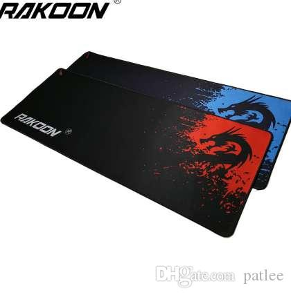 Rakoon Professional Gaming Mouse Pad Azul / Vermelho Dragão 300x800mm PC Laptop Computador Desktop Mousepad Mat para Dot 2 Lol CSGO Gamer