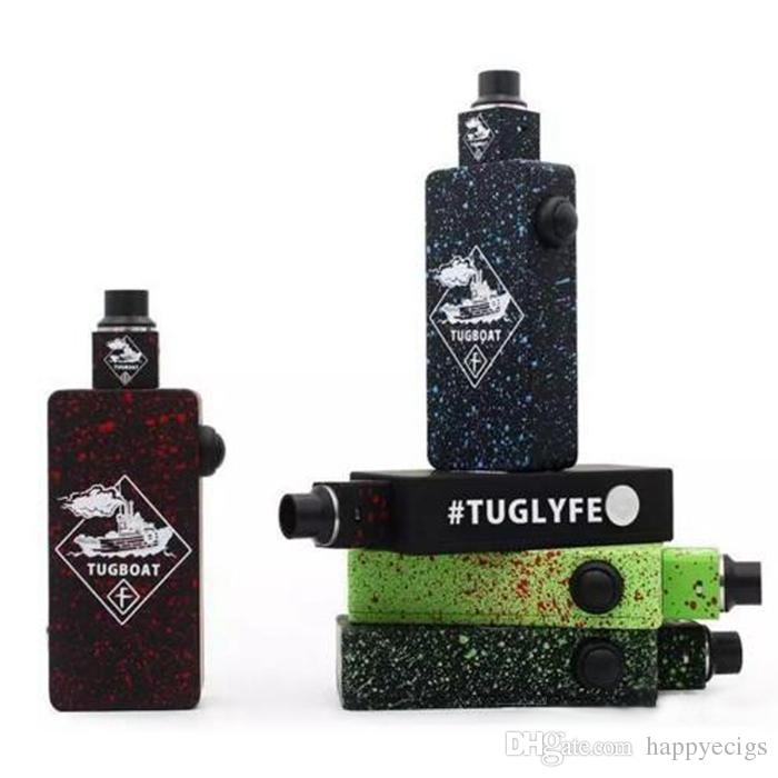 Top Tuglyfe Tugboat Box Mod Kit with Colorful tuglyfe Unregulated mod Cubed RDA Mechanical velocity RDA Tuglyfe Portable box mod Vaporizer