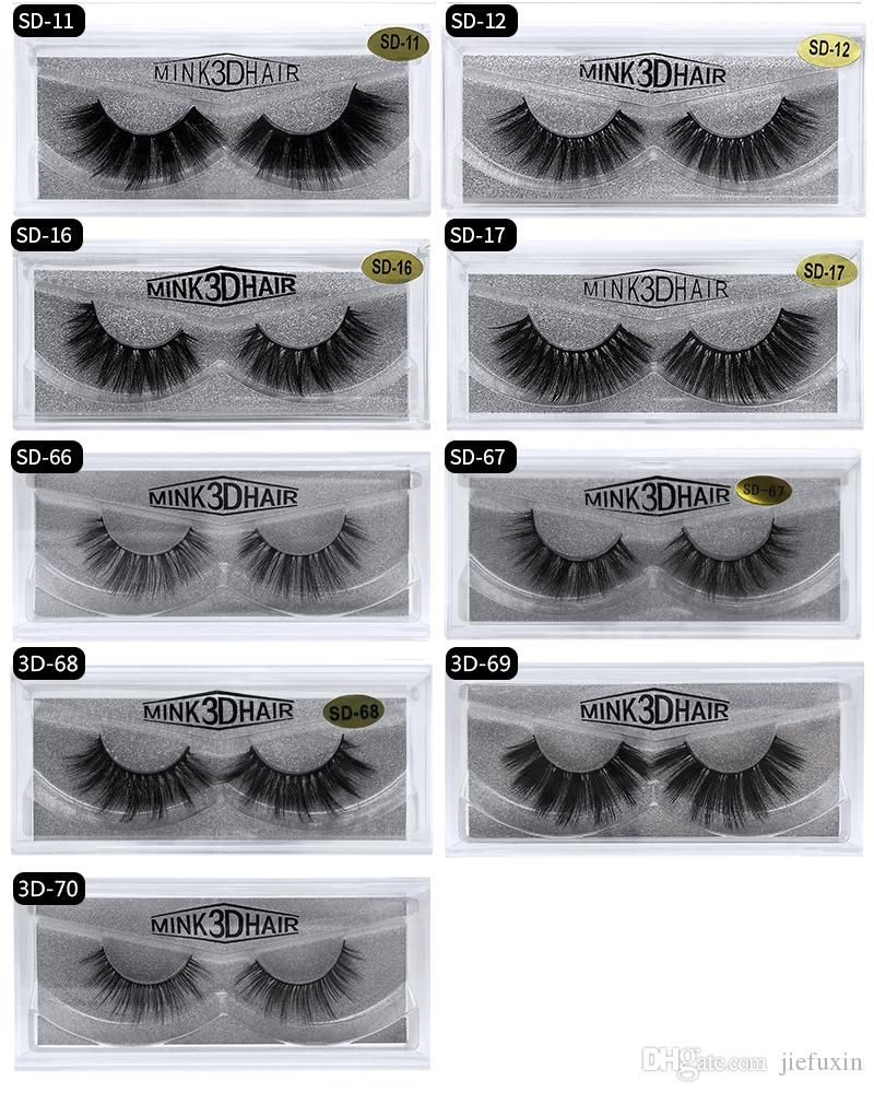c46da50b92d ... 100% Real Siberian 3D Mink Eyelashes Full Strip False Eyelash Long  Individual Eyelashes Mink Lashes ...