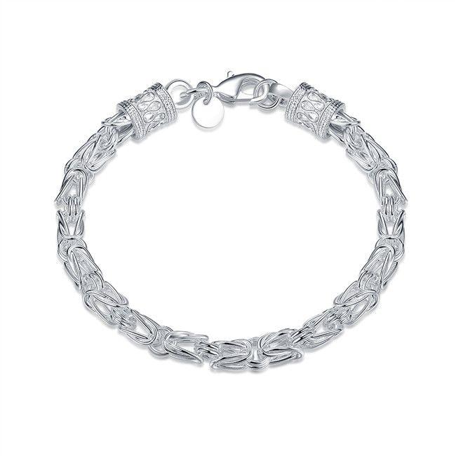 Full Huangshi plum blossom Bracelet sterling silver plated bracelet ; New arrival fashion men and women 925 silver bracelet SPB096