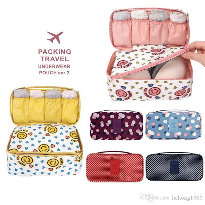 Multi Function Women Underwear Organizer Reggiseno Home Organizzazione Sacchetto di immagazzinaggio Sundries Wash Rinse Cosmetic Makeup Pouch Travel Sack 11nm ff