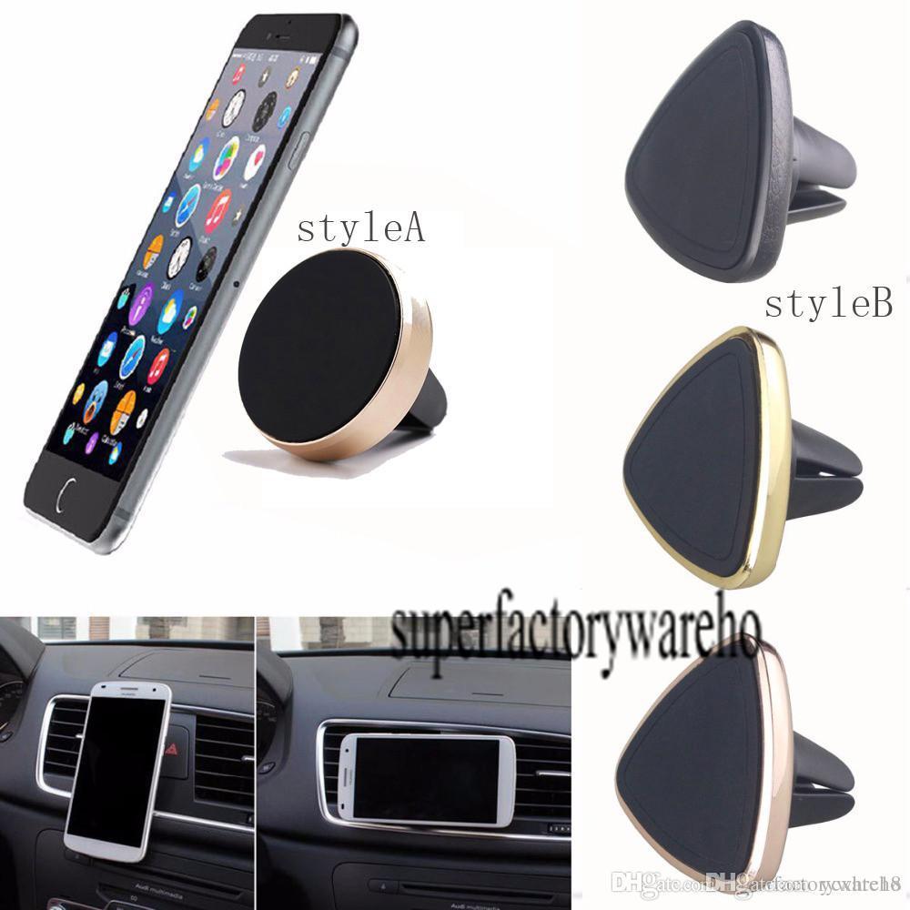Carro magnético universal suporte de ventilação de ar montar suporte de berço para telefone celular gps para iphone samsung htc huawei xiaomi air vent mount