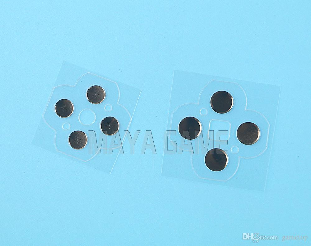 left and right metal Touches Butons conductive film ABXY D Pad Electro Button Circuit PCB Pads for 3DS