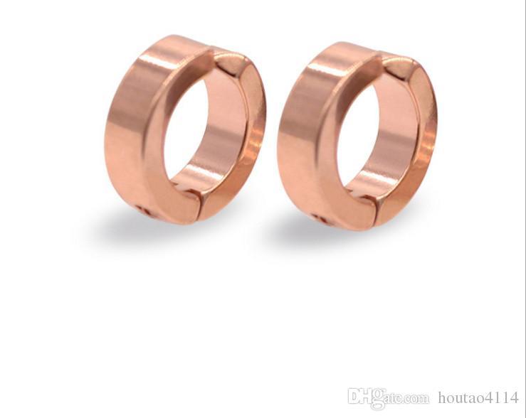 Die neuen Mode-Ohrringe Edelstahl Ohrringe Vertraglich sowohl Männer als auch Frauen Allergie ohne Ohrringe Ohr durchbohrt Ohrclip