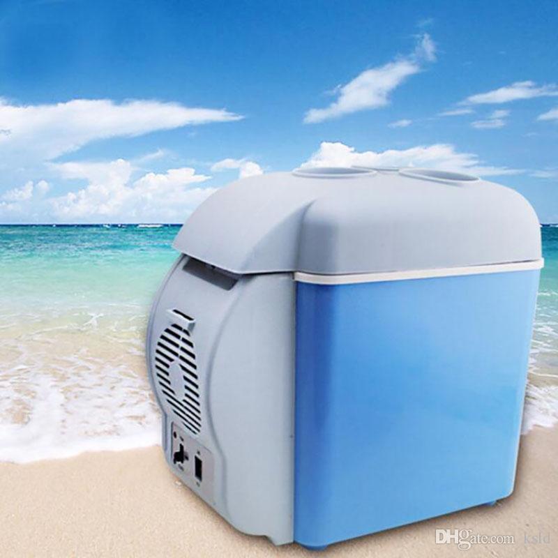 7.5L Mini Car Refrigerator Multi-Function Home Travel Vehicular Fridge Dual-use Box Cooler Warmer Temperature Control
