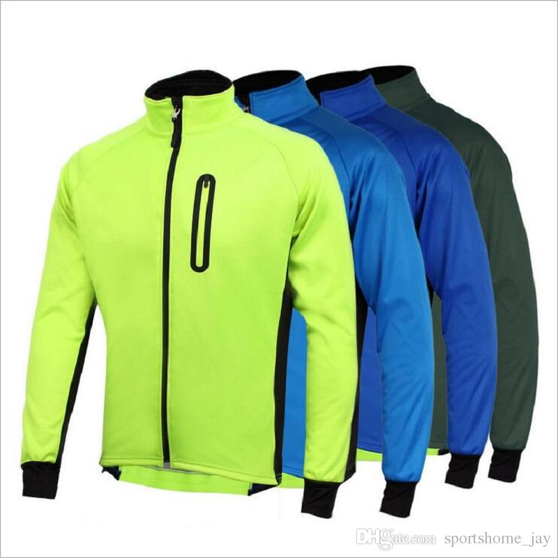 남성 Ropa Ciclismo Cycling Jackets 방풍 방수 코트 따뜻한 그린 파란 봄 가을 겨울 자전거 의류