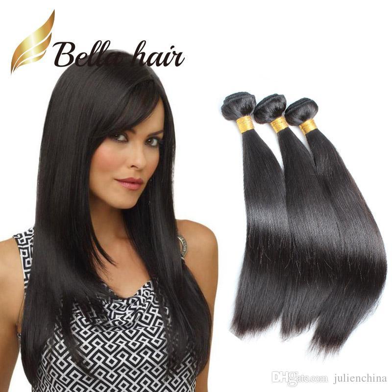 BellaHair®3PCS/ロット未処理のブラジルの髪緯ご自然な色のグレード9AストレートウィーズJulienchina