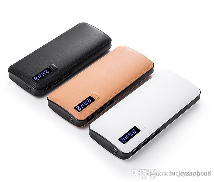 Nuovo stile 20000mAh Banca di alimentazione 3USB Batteria esterna Caricabatteria portatile con LED per iPhone 8 X Samsung s8 universale MOQ 50PCS