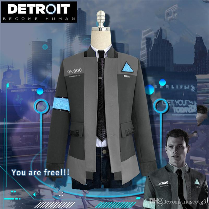 New Game Detroit Become Human Connor Cosplay Costume Rk800 Agent Suit Halloween Carnival Uniforms Costumes Costume Wigs Halloween Costumes For Adults From Mascotg9 62 6 Dhgate Com