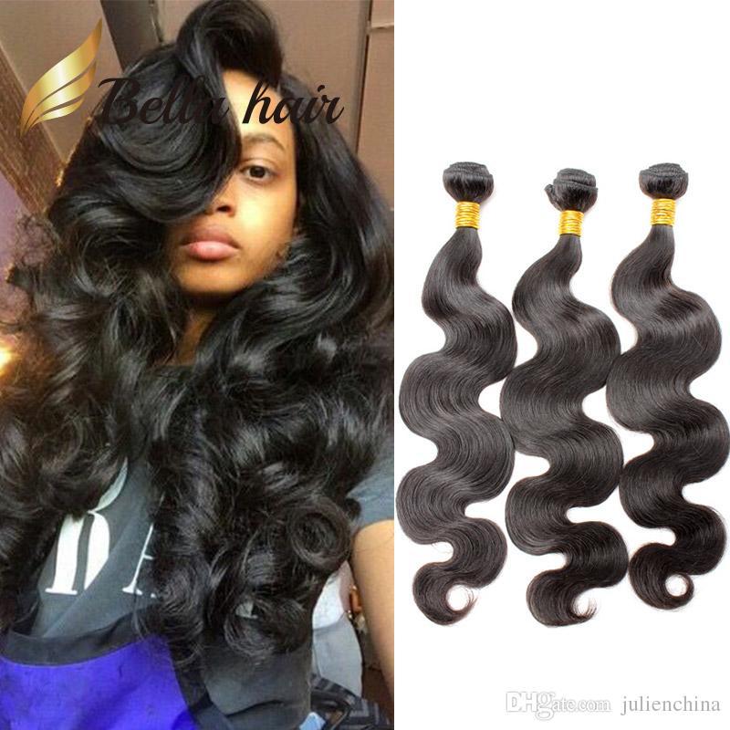 Bellahair® 10-24 zoll Brazilian Weave 3pcs / lot Human Hair Weft Natürliche Farbe 9A Grad Erweiterungen Julielenchina