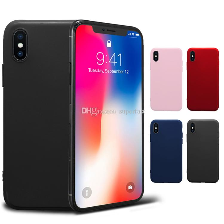 Silicon Gel Case For Iphone X 8 7 6 Plus Ultra Thin Soft TPU Bumper Back Cover Cases With OPP Bag