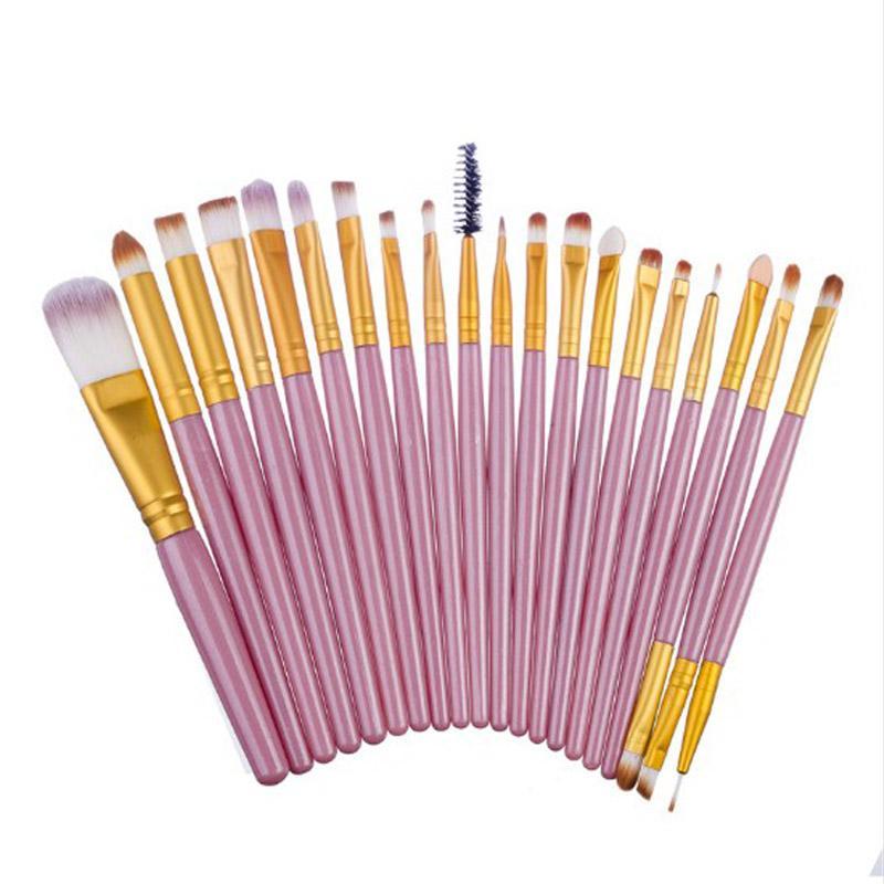 19 Styles Wholesale 20 pcs/set Makeup Brush Professional Foundation Eye Shadow Eyeliner Lip Blending Cosmetics Make-up Tool