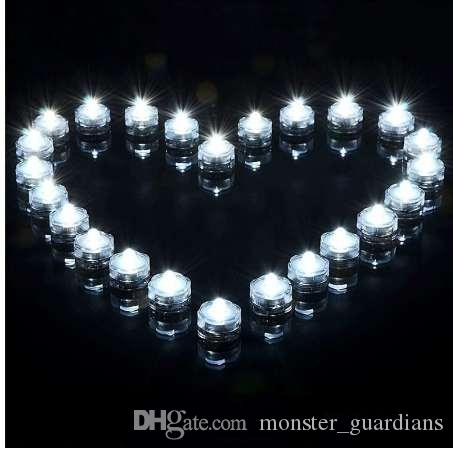24 adet / grup Su Geçirmez Sualtı Akülü Dalgıç LED Çay Işıkları Mum Düğün için Parti