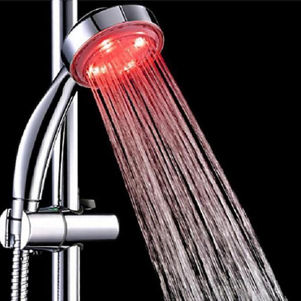 7 colori cambiando colorato LED soffioni doccia bagno doccia con per lampade a LED colorati Illuminazione bagno accessori a parete