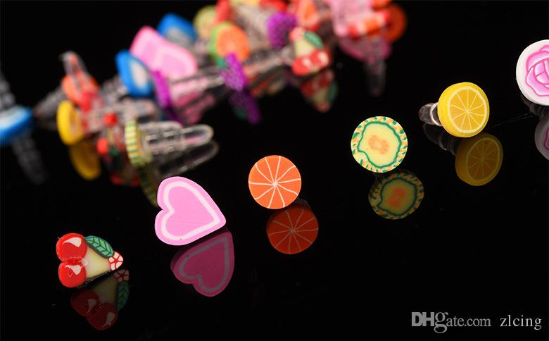 Wholesale 3000pcs Cute Fruit Anti Dust Plug For Iphone And 3.5mm Earphone Cap For Mobile Phone Free Shipping