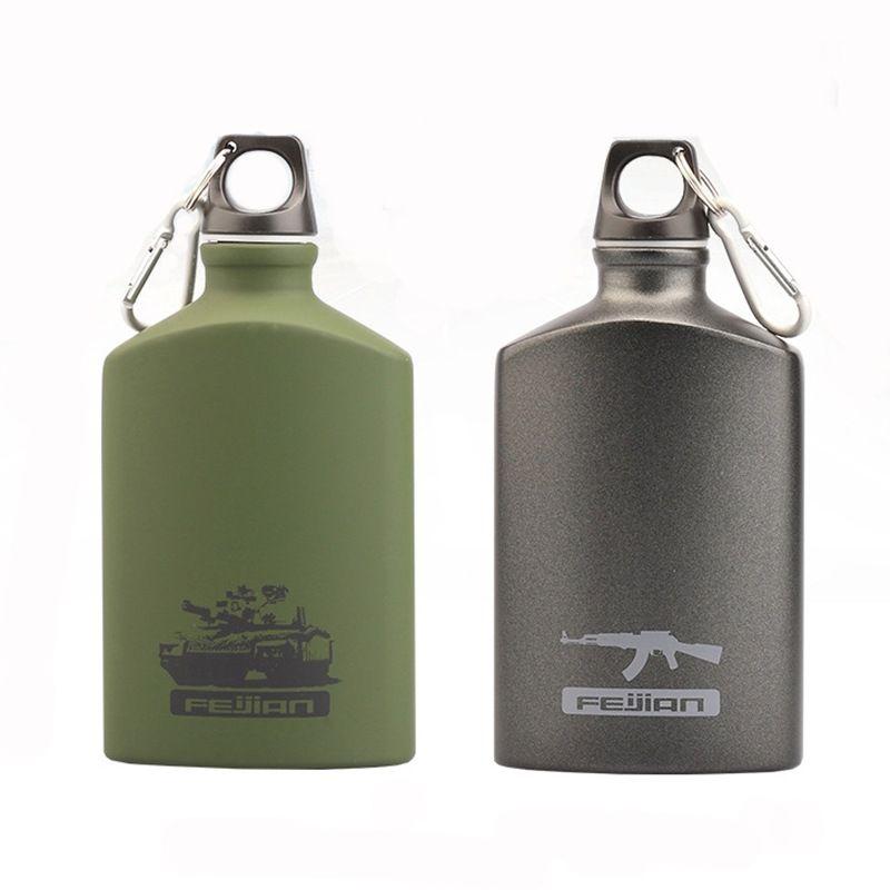 Kitchen Accessories Stainless Steel Tumbler Outdoor Sports Cold Kettle Drink Wine Water Bottle 500ml Hip Flasks Aluminum