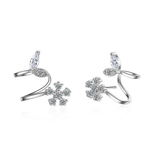 ED394 Top Qualität Luxus Baumeln Ohrring Frauen Designer Perle Ohrring Berühmte Europäische Marke schneeflocke Qualität Schmuck Geschenk