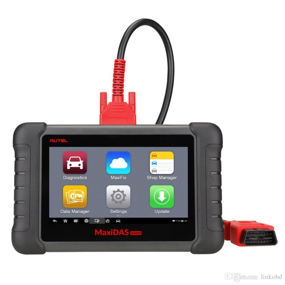 Autel MaxiDAS DS808 Automotive Diagnostic Scanner and Analysis Systems Scan Tool Supports Android System Update Online Standard Set