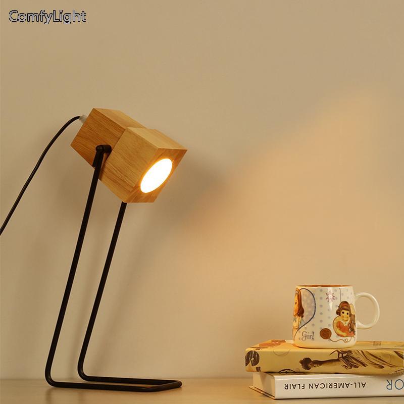 2 Nordique En Bois Design Nuit Chevet Abat Acheter Table Bureau Jour Luminaires De Salon Kid88 Lampe Suspensions Lamparas uXwTkPZOi