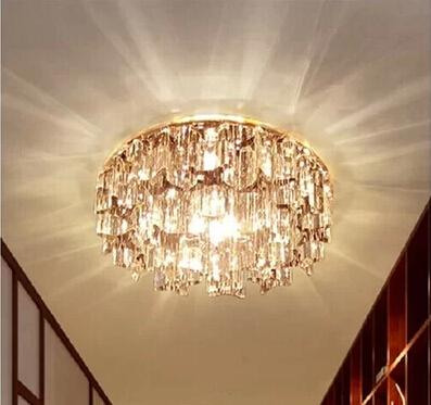 Luxury light Fashion LED Diameter 14cm K9 cystal ceiling light 110-240V 3W LED Ceiling Lamps Free Shipping