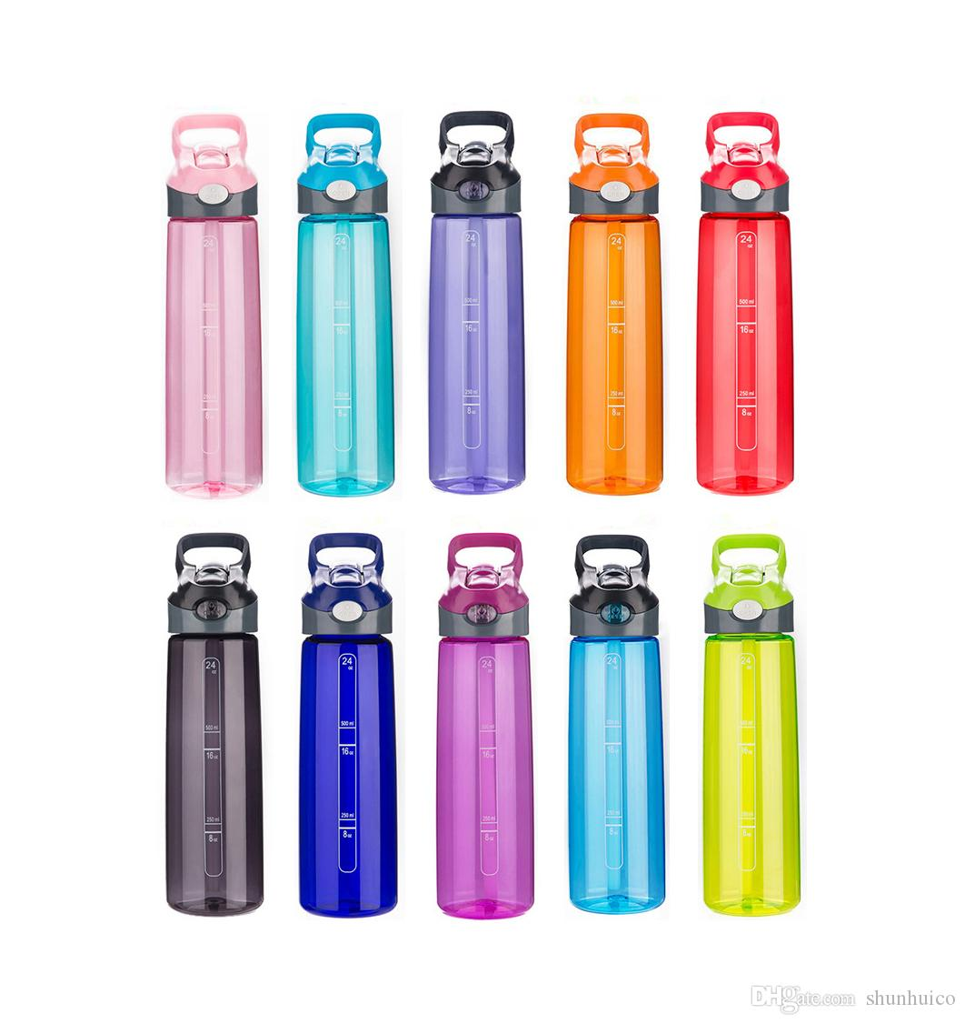 Water Bottle Sports Water Bottle with Straw Reusable Water Bottle with Handle