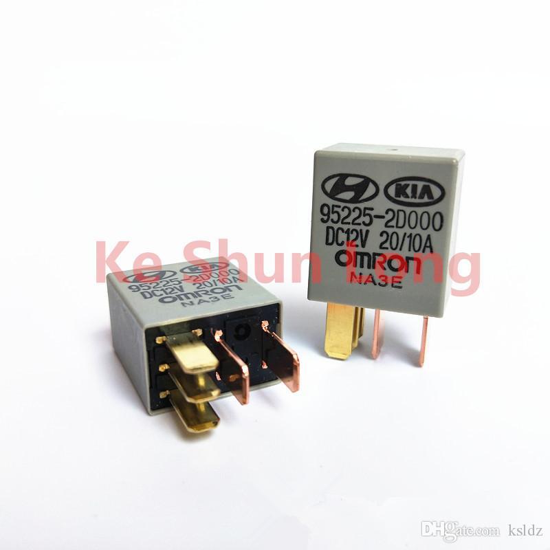 Free shipping lot (5 pieces/lot) 95225-2D000 DC12V 95225-2D000-dc12v 12vdc 20A/10A 5PINS Automobile relay original New
