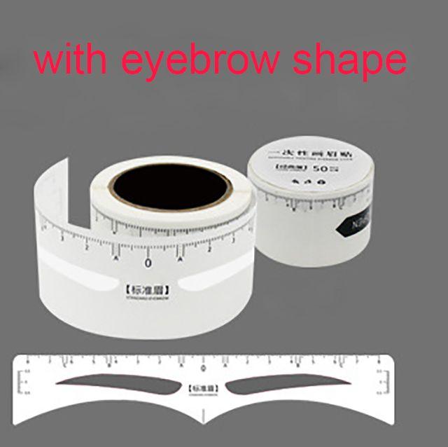 Одноразовые измерения наклейка линейка pmu линейка с формой Microblading точная линейка для перманентного макияжа бровей инструменты
