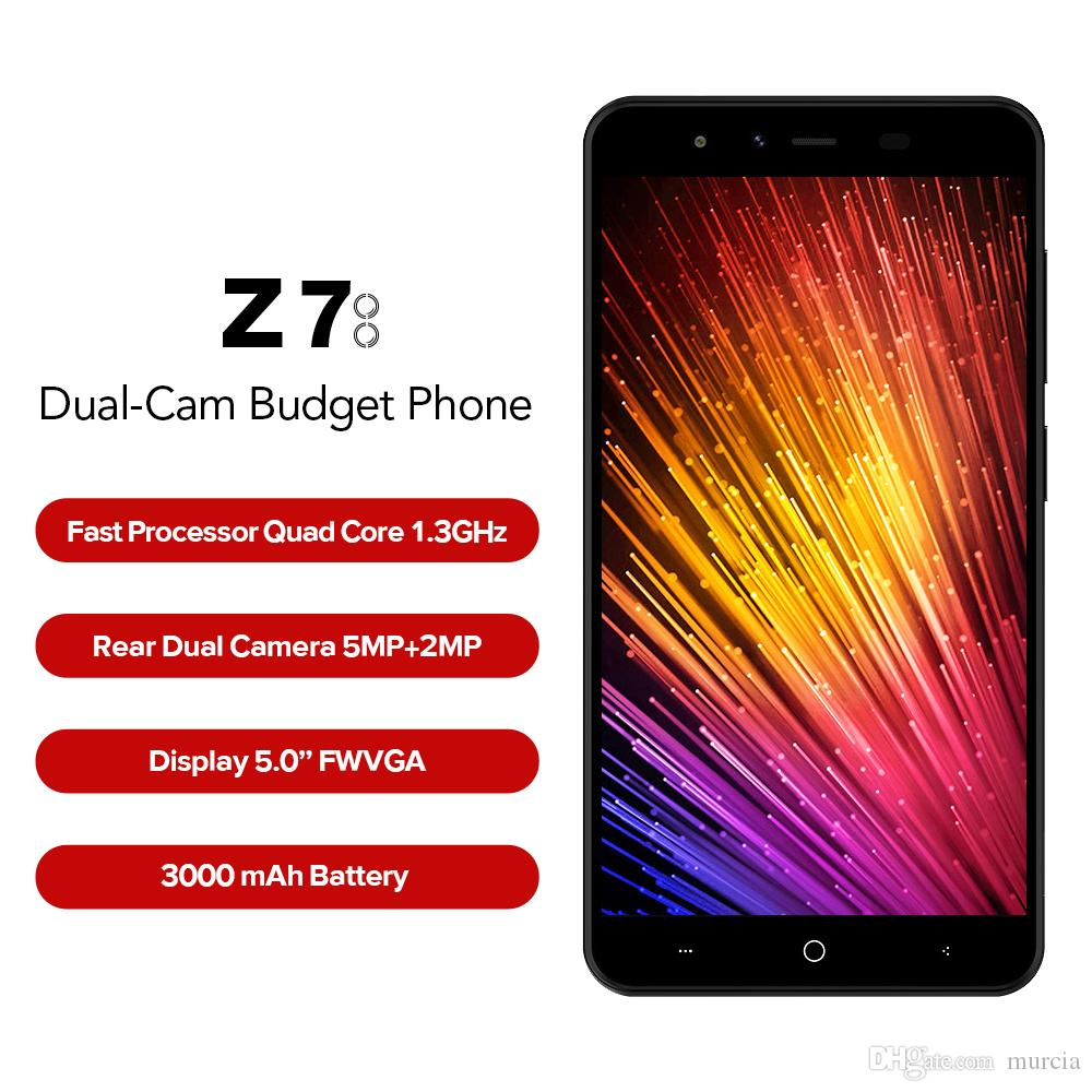 "Original LEAGOO Z7 4G LTE Mobile Phone 5.0"" Android 7.0 SC9832A Quad Core 3000mAh 1GB RAM 8GB ROM Dual Rear Camera Dual SIM Smartphone"