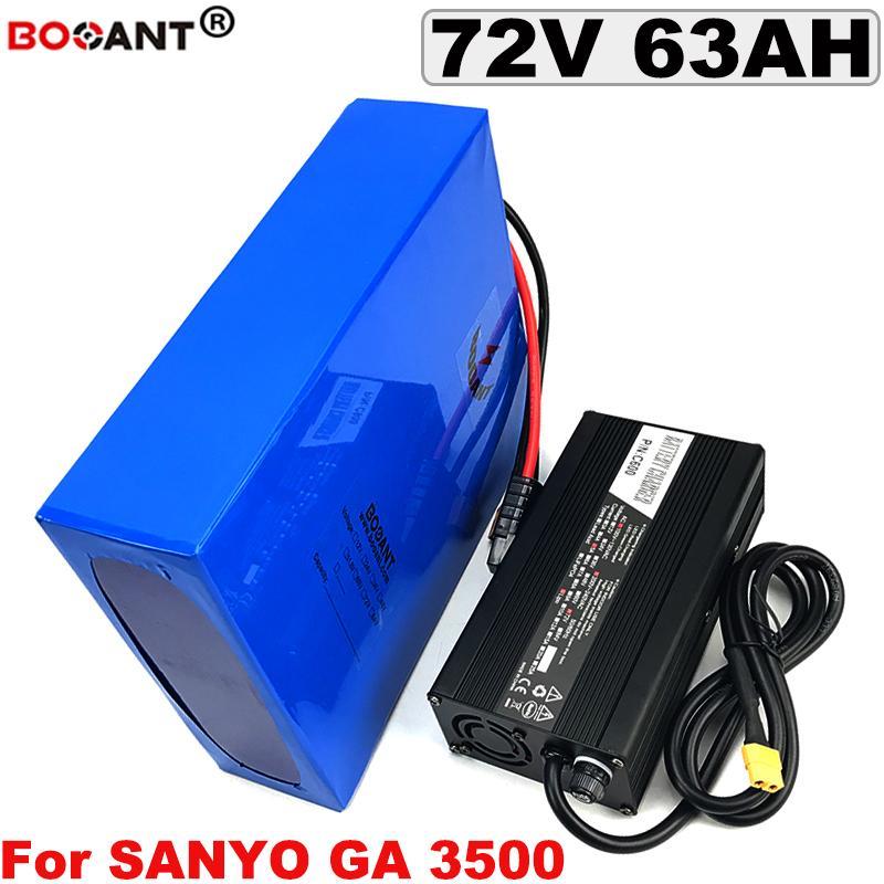 Для большой мощности 5000W 7000W Мотор 72V 60AH Электрический велосипед литиевая батарея для Sanyo 18650 Cell E-Bike аккумулятор 72V с 5A Зарядное устройство